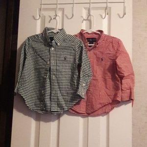 Toddler Boy Ralph Lauren Button Up Shirts